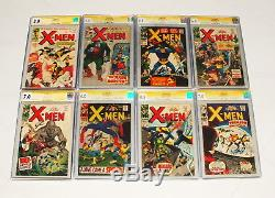 1963- 68 The X Men Full Run Issue #1 Thru 40 All Signed By Stan Lee Cgc Graded