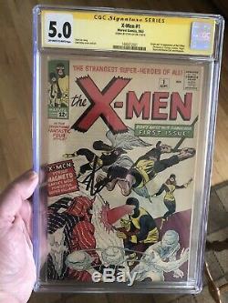 1963 X-Men 1 CGC 5.0! OWithW! Signed Stan Lee Very Nice Looking 5.0