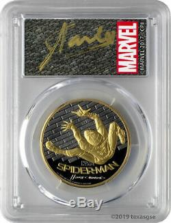 2017 $200 Spider-Man Homecoming 1oz Gold Coin PCGS PR70DCAM FD Stan Lee Signed