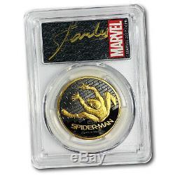 2017 Cook Islands 1oz Gold Spider-Man Coin PCGS PR70DCAM Stan Lee Signed Label