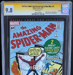 AMAZING SPIDER-MAN #1 (2011 Reprint) SIGNED by STAN LEE CGC SS 9.8 Dallas