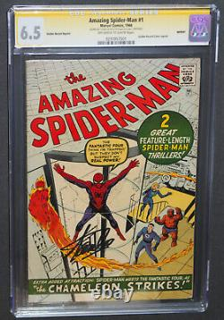 AMAZING SPIDER-MAN #1 CGC 6.5 SS STAN LEE SIGNED GOLDEN RECORD REPRINT GRR OWithWT