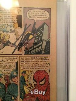 AMAZING SPIDER-MAN 1 CGC NG 15th Page Signed By STAN LEE