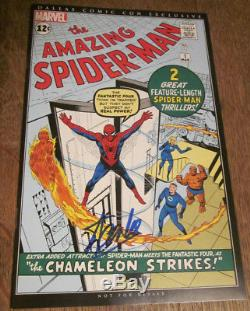 AMAZING SPIDER-MAN #1 Signed STAN LEE CERTIFIED autograph Dallas Comic Con NM