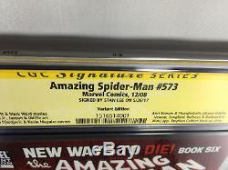 AMAZING SPIDER-MAN #573 CGC 9.8 SS SIGNED Stan Lee MARVEL RARE ANTI-VENOM