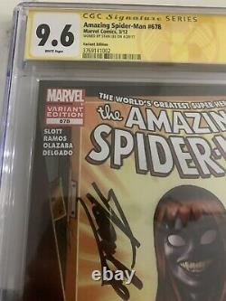 AMAZING SPIDER-MAN #678 MARY JANE VENOM 1st PRINT! CGC 9.6 NM+ Signed STAN LEE