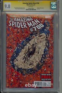 AMAZING SPIDER-MAN #700 Garcin Collage VARIANT Stan Lee SIGNED Marvel CGC 9.8
