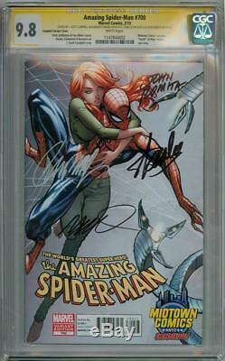 AMAZING SPIDER-MAN #700 MIDTOWN VARIANT CGC 9.8 SIGNATURE SERIES x4 STAN LEE