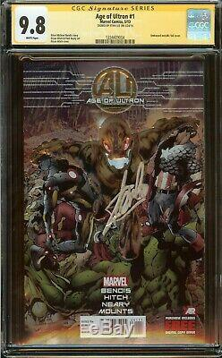 Age of Ultron #1 CGC 9.8, Embossed Foil, Bryan Hitch Cover Signed Stan Lee 2013