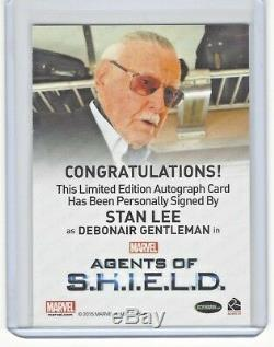 Agents of Shield Stan Lee Auto Signed Autograph Card Marvel Rittenhouse Rare
