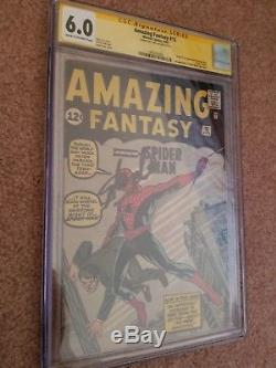 Amazing Fantasy 15 1st Spider-Man! CGC 6.0 SS Stan Lee Signed