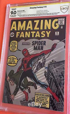 Amazing Fantasy #15 CBCS 9.0 HIGH GRADE SS STAN LEE SIGNED AF15 COMIC BOOK
