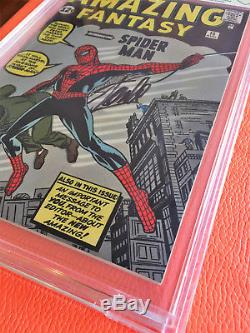 Amazing Fantasy #15 CBCS 9.0 Rest 1962 Comic Book Signed Stan Lee Spider-Man 1