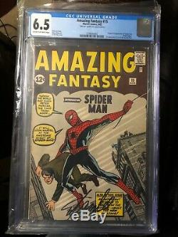 Amazing Fantasy 15 CGC 6.5 signed by Stan Lee