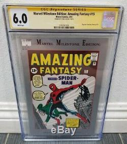 Amazing Fantasy 15 Marvel Milestone CGC Graded Signed Stan Lee Spiderman 1 Rare