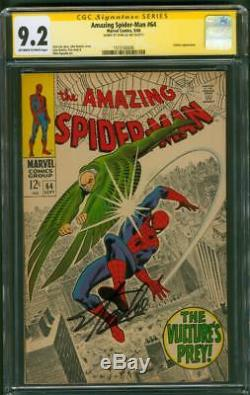 Amazing SPIDER MAN 64 CGC SS 9.2 Stan Lee signed John Romita Sr Vulture art 1968