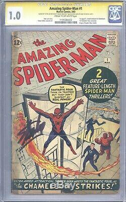 Amazing Spider-Man #1 CGC 1.0 Signature Series Signed by Stan Lee! Nice Book