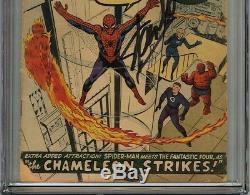 Amazing Spider-Man #1 CGC 2.0 GD SIGNED STAN LEE SPIDER-MAN ORIGIN RETOLD Marvel