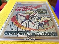 Amazing Spider-Man #1 CGC 2.5 Silver Age 3/1963 Key Grail Comic Stan Lee Signed