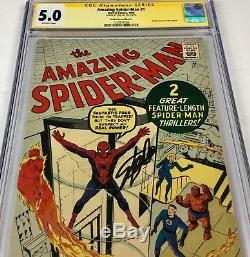 Amazing Spider-Man #1 CGC 5.0 SS SIGNED STAN LEE GRR CLEAR SIGNATURE PLACEMENT