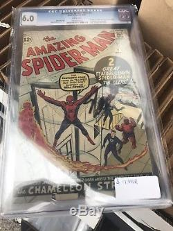Amazing Spider-Man #1 CGC 6.0 White Pages Case Signed By Stan Lee