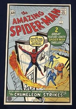 Amazing Spider-Man #1 Litho Signed by Stan Lee with COA Steve Ditko Art LIMITED