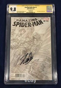 Amazing Spider-Man #1 Ross Sketch Variant CGC 9.8 Signed by Stan Lee on 11/4/18