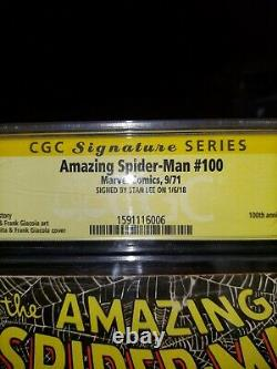 Amazing Spider Man 100 100th Anniversary issue signed by Stan Lee Slabbed by CGC