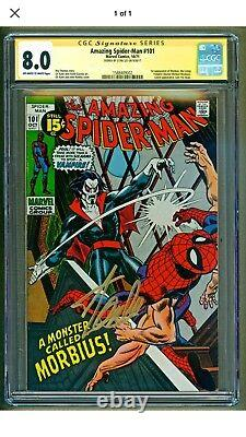 Amazing Spider-Man #101 Marvel 1st appearance of Morbius Signed Stan Lee CGC 8.0