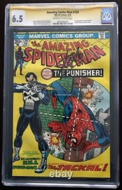 Amazing Spider-Man #129 CGC 6.5 Signed by Stan Lee 1st app Punisher OWithW pages