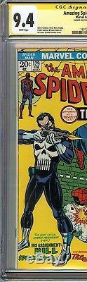 Amazing Spider-Man #129 CGC 9.4 NM SIGNED STAN LEE 1st App PUNISHER Marvel Comic