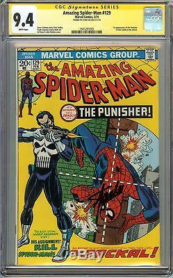 Amazing Spider-Man #129 CGC 9.4 NM SIGNED STAN LEE 1st App PUNISHER Romita Cover