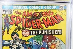 Amazing Spider-Man #129 CGC SS 4.0 1st Punisher Signed (3X) Stan Lee John Romita