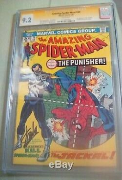 Amazing Spider-Man #129 CGC SS 9.2 NM- 1st app of Punisher signed by Stan Lee