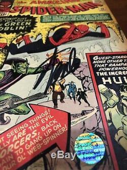 Amazing Spider-Man #14 1964 Marvel 1st app Green Goblin Signed Stan Lee