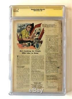 Amazing Spider-Man #14 CGC. 5 SS SIGNED STAN LEE 1st Green Goblin