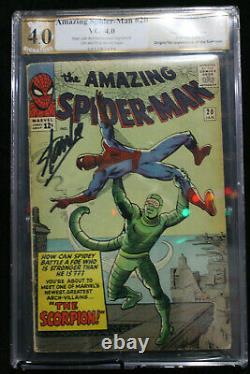 Amazing Spider-Man #20 PGX 4.0 STAN LEE SIGNED! (Marvel) HIGH RES SCANS