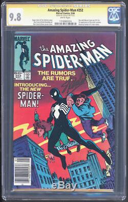 Amazing Spider-Man #252 CGC SS 9.8 Signed By Stan Lee 1st Black Costume