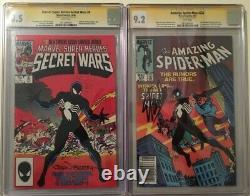 Amazing Spider-Man 252 CGC signed Stan Lee & Secret Wars 8 Signed John Beatty