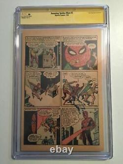 Amazing Spider-Man #3 CGC SS 1st Page Signed STAN LEE First Doctor Octopus PG NG