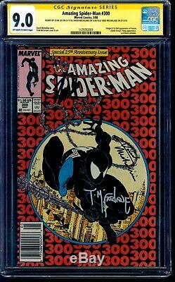Amazing Spider-Man 300 CGC 9.0 SS 3x Signed by Stan Lee Todd McFarlane Newsstand