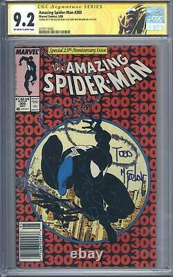 Amazing Spider-Man #300 Vol 1 CGC 9.2 SS Signed by Todd McFarlane and Stan lee