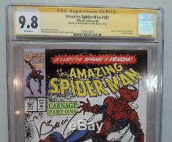 Amazing Spider-Man 361 CGC 9.8 Signed SS Stan Lee & Mark Bagley Carnage Venom