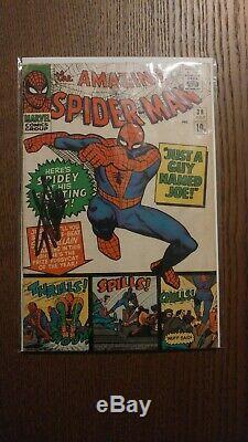 Amazing Spider-Man 38 VG Last Ditko! Stan Lee Signed! Certified! Rare UK Variant