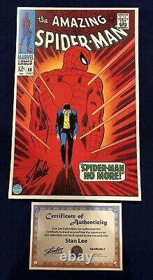 Amazing Spider-Man #50 Litho Signed by Stan Lee with COA John Romita Art LIMITED