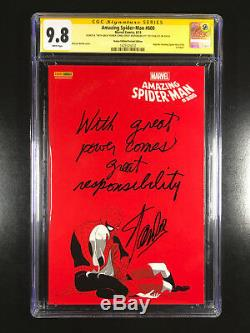 Amazing Spider-Man 600 CGC 9.8 signed inscribed Stan Lee With Great Power Comes