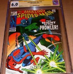Amazing Spider-Man #78 CGC SS SIGNED John Romita Sr Marvel 1st Prowler Origin