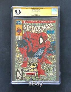 Amazing Spider-man #1 Cgc 9.6 Ss Signed Stan Lee Green Variant Mcfarlane 300