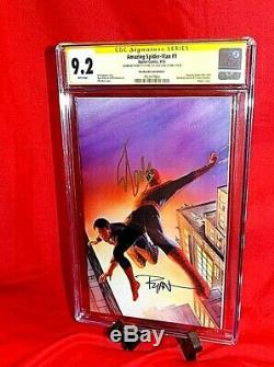 Amazing Spider-man # 1 Cgc Ss 9.2 Signed By Stan Lee & Ryan Ottley Alex Ross