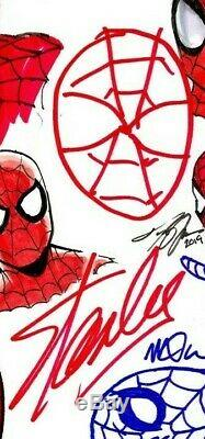 Amazing Spider-man #1 Cgc Ss 9.8 Signed & Sketched By Stan Lee & 8 Legends Rare